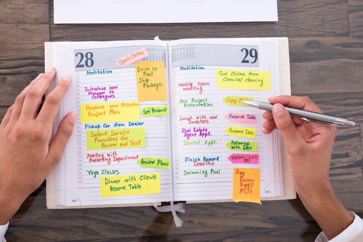Calendario appuntamenti dei professionisti Sloworking